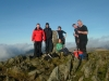 Beautiful November weekend, TWMC group enjoying tea and cake at the end of the Grib Goch ridge