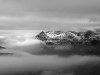Winter cold inversion across the Snowdon massif, North Wales