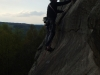 Rob treading carefully on Sunset Slab HVS 4b